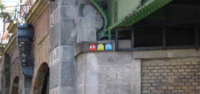 Vienna's most beautiful space invader close to Rhiz