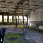 A deserted hall in some military ruins close to Dębina, Poland.
