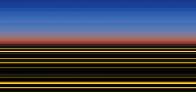"""Abstract digital image """"Chicago I"""" taken from the """"horiçon"""" series by Philipp Brunner"""