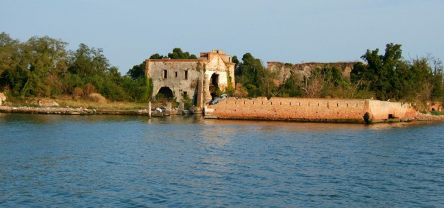 Photograph of the abandoned island of San Giorgio - taken from Atlas Obscura