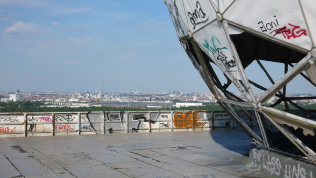 View of abandoned Teufelsberg station near Berlin