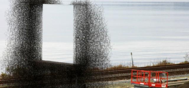 """Sculpture """"non-sign II"""" by lead pencil studio"""
